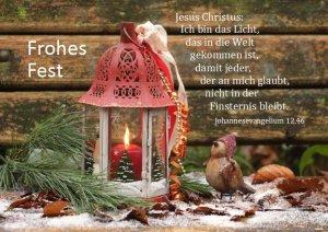 Weihnachtskarte 014 - Johannes 12,46