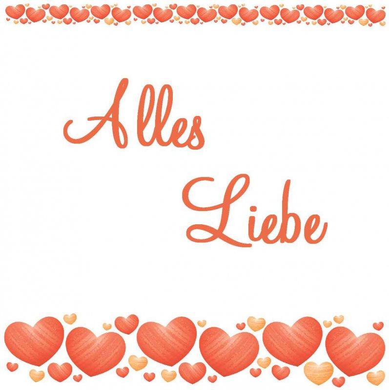 "Quadratkarte ""Alles Liebe"" - Psalm 32,10"