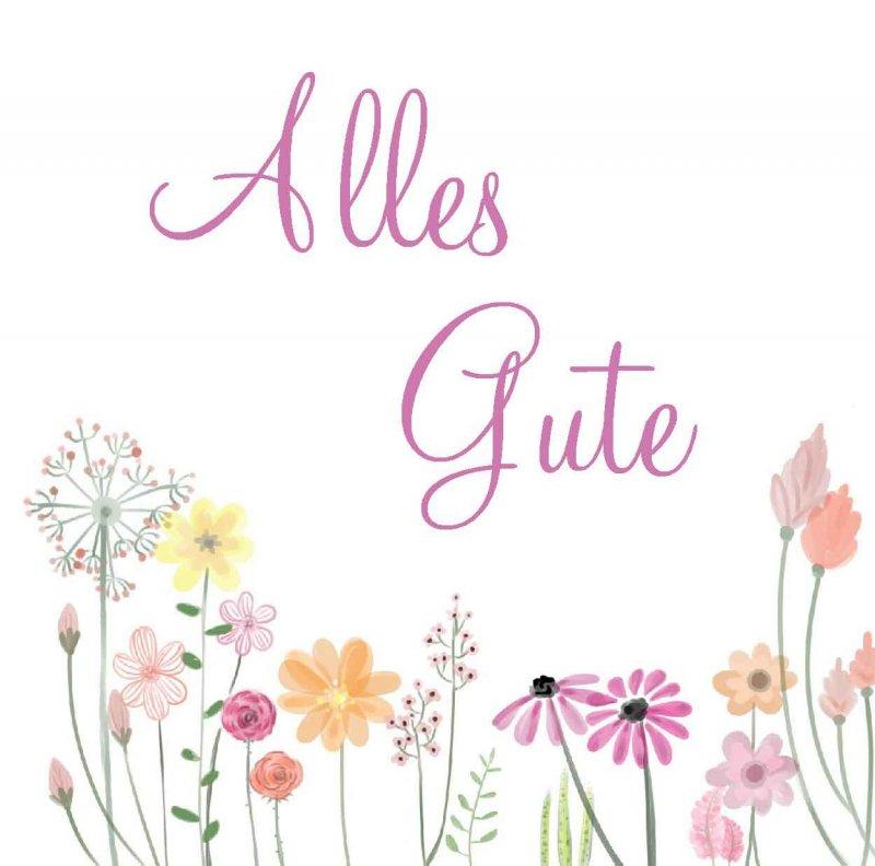 "Quadratkarte ""Alles Gute"" - Psalm 32,10"