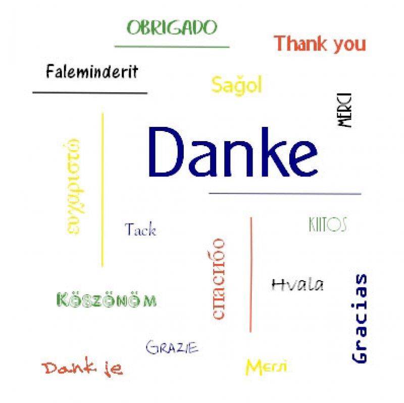 "Quadratkarte ""Danke"" - 1.Thess 5,18a"